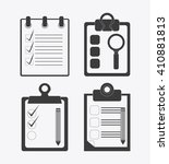 checklist design  flat...
