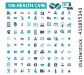 health care icons  | Shutterstock .eps vector #410895343