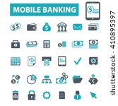 mobile banking icons  | Shutterstock .eps vector #410895397