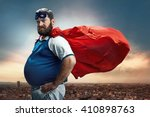 funny portrait of hero | Shutterstock . vector #410898763