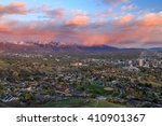 wasatch front sunset above salt ... | Shutterstock . vector #410901367