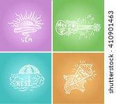 summer time handwritten... | Shutterstock .eps vector #410901463