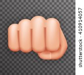 realistic 3d punch fist hand... | Shutterstock .eps vector #410914057