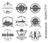 fishing club black white... | Shutterstock .eps vector #410917777