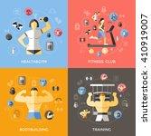 lifestyle of bodybuilder... | Shutterstock .eps vector #410919007