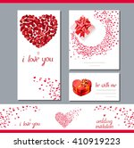 templates with heart made of... | Shutterstock .eps vector #410919223