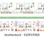 endless horizontal border  with ... | Shutterstock .eps vector #410919583