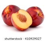 Nectarine Fruit Isolated On...