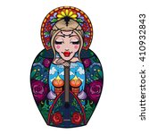 vector color russian doll... | Shutterstock .eps vector #410932843