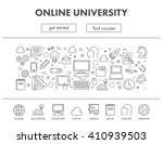 outline design concept web... | Shutterstock .eps vector #410939503