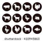 farm animals set. vector | Shutterstock .eps vector #410945863