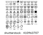laundry symbol. care symbols.... | Shutterstock .eps vector #410963707