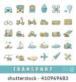 set of transportation icons. ... | Shutterstock .eps vector #410969683