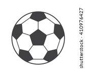 football ball icon vector... | Shutterstock .eps vector #410976427