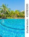 beautiful luxury swimming pool... | Shutterstock . vector #410985283