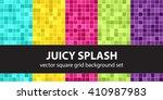 square pattern set juicy splash....   Shutterstock .eps vector #410987983