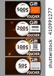 set of modern gift voucher... | Shutterstock .eps vector #410991277