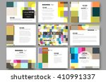 set of 9 vector templates for... | Shutterstock .eps vector #410991337
