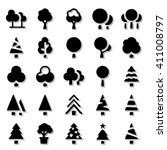 trees icon set | Shutterstock .eps vector #411008797