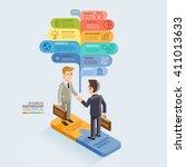 business partnership isometric... | Shutterstock .eps vector #411013633