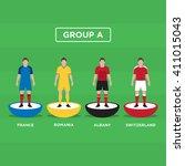figurine football  soccer  ... | Shutterstock .eps vector #411015043