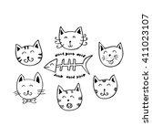Cute Cartoon Doodle Cats