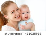 happy family mother playing ... | Shutterstock . vector #411025993