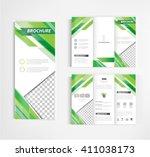 brochure template design vector | Shutterstock .eps vector #411038173
