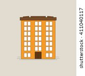 vector orange buildings  for