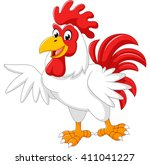 cartoon rooster presenting | Shutterstock . vector #411041227