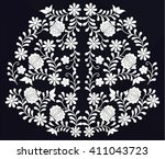 hungarian folk art | Shutterstock .eps vector #411043723