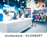 pretty girls receptionist...   Shutterstock . vector #411048397