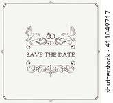 wedding invitation. save the... | Shutterstock .eps vector #411049717