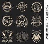 sport typography graphics... | Shutterstock .eps vector #411064717