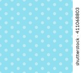 blue seamless polka dots pattern | Shutterstock .eps vector #411068803