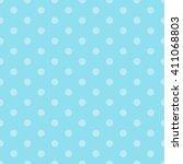 blue seamless polka dots pattern | Shutterstock .eps vector #411068803