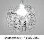 bright idea for plan | Shutterstock . vector #411072853