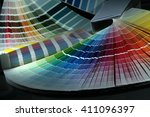 close up of color guide spread... | Shutterstock . vector #411096397