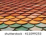 temple roof thai | Shutterstock . vector #411099253