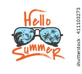 hello summer label for your... | Shutterstock .eps vector #411103273