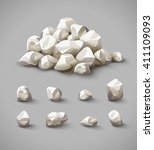 set of separate rocks and... | Shutterstock .eps vector #411109093