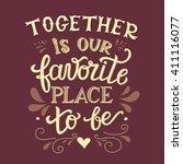 hand lettering typography... | Shutterstock .eps vector #411116077