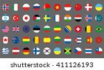 flags icons. simple round flags ... | Shutterstock .eps vector #411126193