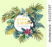 vector illustration tropical...   Shutterstock .eps vector #411127237