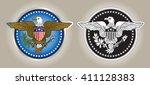 american eagle crest | Shutterstock .eps vector #411128383