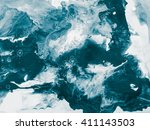 blue creative abstract hand... | Shutterstock . vector #411143503