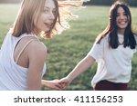 Two Girls Having Fun Outdoors....