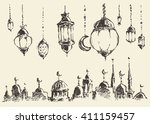 ramadan celebration vintage... | Shutterstock .eps vector #411159457