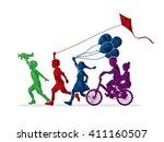 Children Running  Friendship...