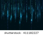abstract technology background. ... | Shutterstock .eps vector #411182227